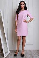 Розовое платье прямого фасона с подкладкой