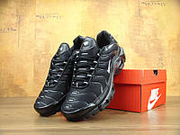Мужские кроссовки Nike Air Max Tn+ black/grey. Топ качество! Живое фото (аир макс тн, эир макс тн)