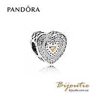 Pandora Шарм ЩЕДРОЕ СЕРДЦЕ 792081FCZ серебро 925 Пандора оригинал