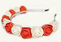 Ободок для волос красивый Розы