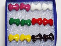 Серьги-пуссеты, пластик, цветные (6 пар) 1_24_105a4