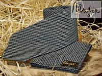 Набор галстука с нагрудным платком в сине-черную гусиную лапку