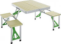 Раскладной стол и стулья, набор HXPT-8828-D, размер 85,5х67,5х67 см, вес 9,2 кг, идеален для рыбалки