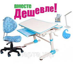 Комплекты детская парта и стул, стол и кресло