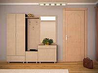 Прихожая Сапфир комплект с зеркалом, шкафом двух дверным, тумбой для обуви, вешалкой.