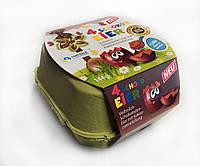 Шоколадные яички в лотке «4 Schoko Eier Goldora» c шоколадным кремом, 144 г., фото 1