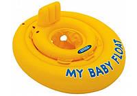 """Детский надувной плотик Intex 56585 """"Мой детский плотик"""": размер 70см, от 6 до 12 месяцев"""