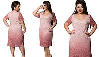 Воздушное гипюровое женское платье больших размеров, фото 1