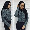 """Женская куртка- косуха """"Зара"""" в расцветках. Ма-2-0317, фото 5"""