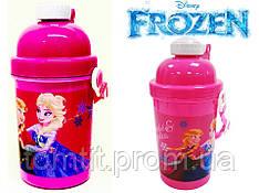 """Бутылка детская, с трубочкой """"Frozen (Холодное сердце, Фроузен)"""""""