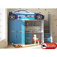 """Кровать чердак """"Полиция"""" бренд"""