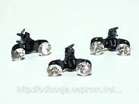 Крабы для волос черный металл, белые стразы(6 шт) 3_4_63a1