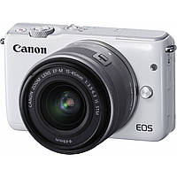 Фотоаппарат Canon EOS M10 White + EF-M 15-45mm IS STM Silver (0922C012)