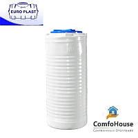 Пластиковая емкость 300 л вертикальная, узкая, однослойная Euro Plast RVO 300 У