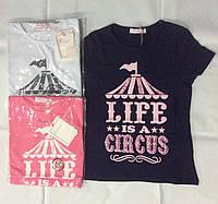 Трикотажная футболка для девочек Emma Girl 104/110-128/134