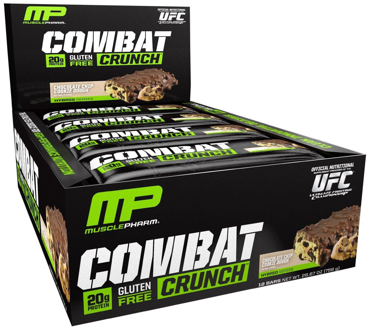 MusclePharm Combat Crunch Bars 12шт х 30г