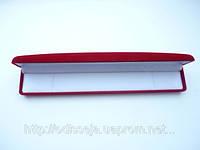 Подарочная коробочка красная 22,5х4 см  28_3_18