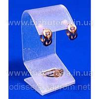 Подставка акриловая матовая для сережек и кольца  BJ-18 28_4_8