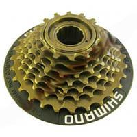 Трещетка Shimano. Вольнобег 7 звезд + съемная защита. Звезды для велосипеда. Трещетка на велосипед.
