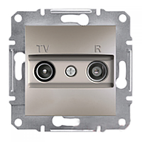 SСHNEIDER ELECTRIC ASFORA TV/R Розетка проходная 8 dB Бронза