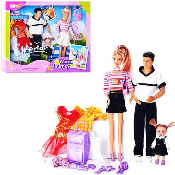 Набор кукол Defa Lucy Семья в путешествии