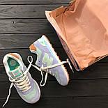 Женские кроссовки New Balance 574 light blue. Топ качество. Живое фото (Реплика ААА+), фото 2