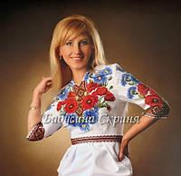 Заготовка жіночої сорочки для вишивки нитками/бісером БС-38, фото 1