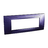 Внешняя рамка 6-модульная Schneider Unica Allegro, цвет: Индиго