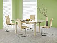 Стеклянный раскладной стол Kayden 140*90  (Halmar)