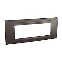 Внешняя рамка 6-модульная Schneider Unica Allegro, цвет: Серый графит