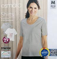 Футболка женская летняя стрейчевая оригинал от Esmara евро M 40 42