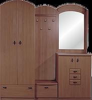 Прихожая Топаз Нова базовый комплект с зеркалом, шкафом двух дверным, тумбой для обуви, вешалкой.