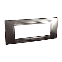 Внешняя рамка 6-модульная Schneider Unica Allegro, цвет:  Серый техно