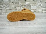 Кроссовки мужские Nike Air Force 1 Suede 30160 коричневые, фото 3