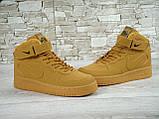 Кроссовки мужские Nike Air Force 1 Suede 30160 коричневые, фото 4