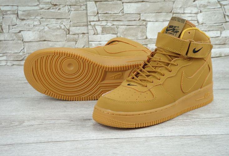 Кроссовки мужские Nike Air Force 1 Suede 30160 коричневые