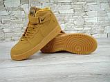 Кроссовки мужские Nike Air Force 1 Suede 30160 коричневые, фото 5