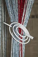 Шпилька для нитяних штор класик овал білий