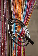 Шпилька для нитяних штор класик овал срібло глянець