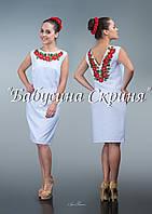 Заготівля жіночої сукні для вишивки нитками/бісером БС-83с