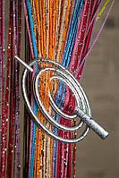 Шпилька для нитяних штор Класик Овал Крапля матовий срібло