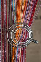 Шпилька для нитяних штор Класик Равлик Крапля матовий срібло