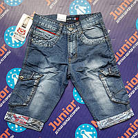 Подростковые джинсовые бриджи на мальчика NEW FEELING