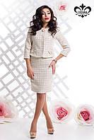 Женский молочный костюм с юбкой Риана Luzana 42-44 размеры