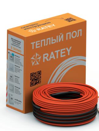 Тёплый пол в стяжку под ламинат, кафель 6,8-9,5 м.кв 1230 Вт. Одножильный кабель RATEY RD1 гарантия  25 лет