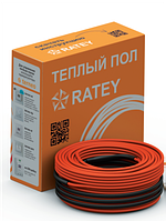 Тёплый пол в стяжку под ламинат, кафель 10,2-14,3 м.кв 1850 Вт. Одножильный кабель RATEY гарантия  20 лет