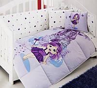 Набор в кроватку для младенцев Kristal Peri лиловый