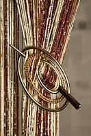 Шпилька для нитяних штор Преміум Овал золото глянець