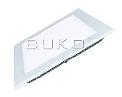 LED Светильник встраиваемый  BUKO WT9016 12W (квадрат) 170*170мм H-25мм 4000K 960Lm