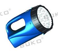 LED Фонарь BUKO WT292 12LED (с АКБ) синий 4V 3000mAh 15часов